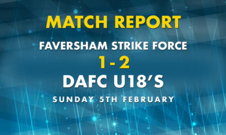 Match Report – Faversham Strike Force 1 – 2 DAFC U18s